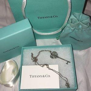 Tiffany Keys Enchant Heart Key Pendant and Chain